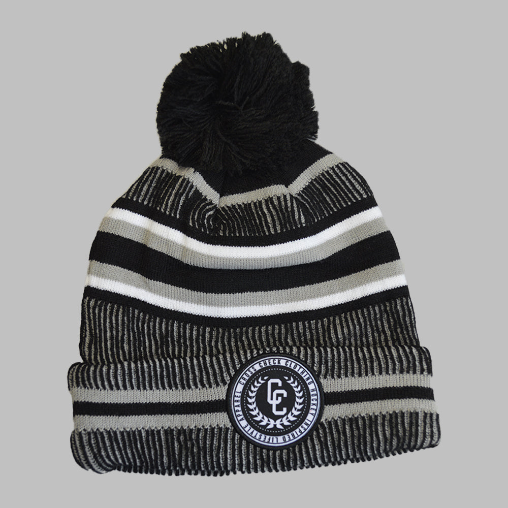 College Knit Hat Grey