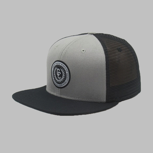 College Trucker Snapback Grey
