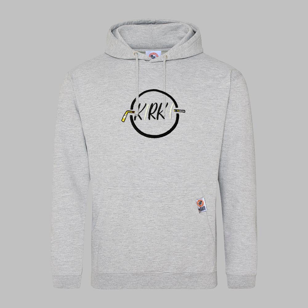 K1RK4 Hoodie - Heather Grey - Cross Check Clothing