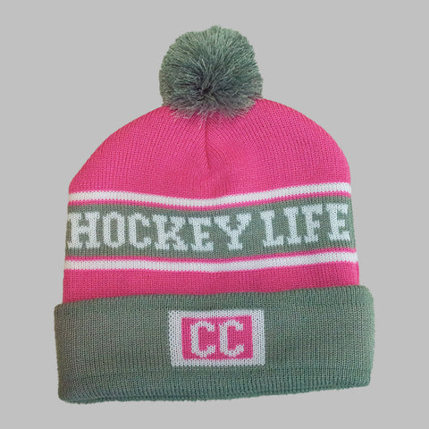 Hockey Life Knit Hat Pink