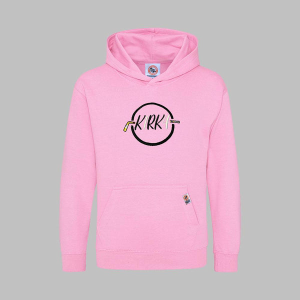 K1RK4 Kids Hoodie - Pink - Cross Check Clothing