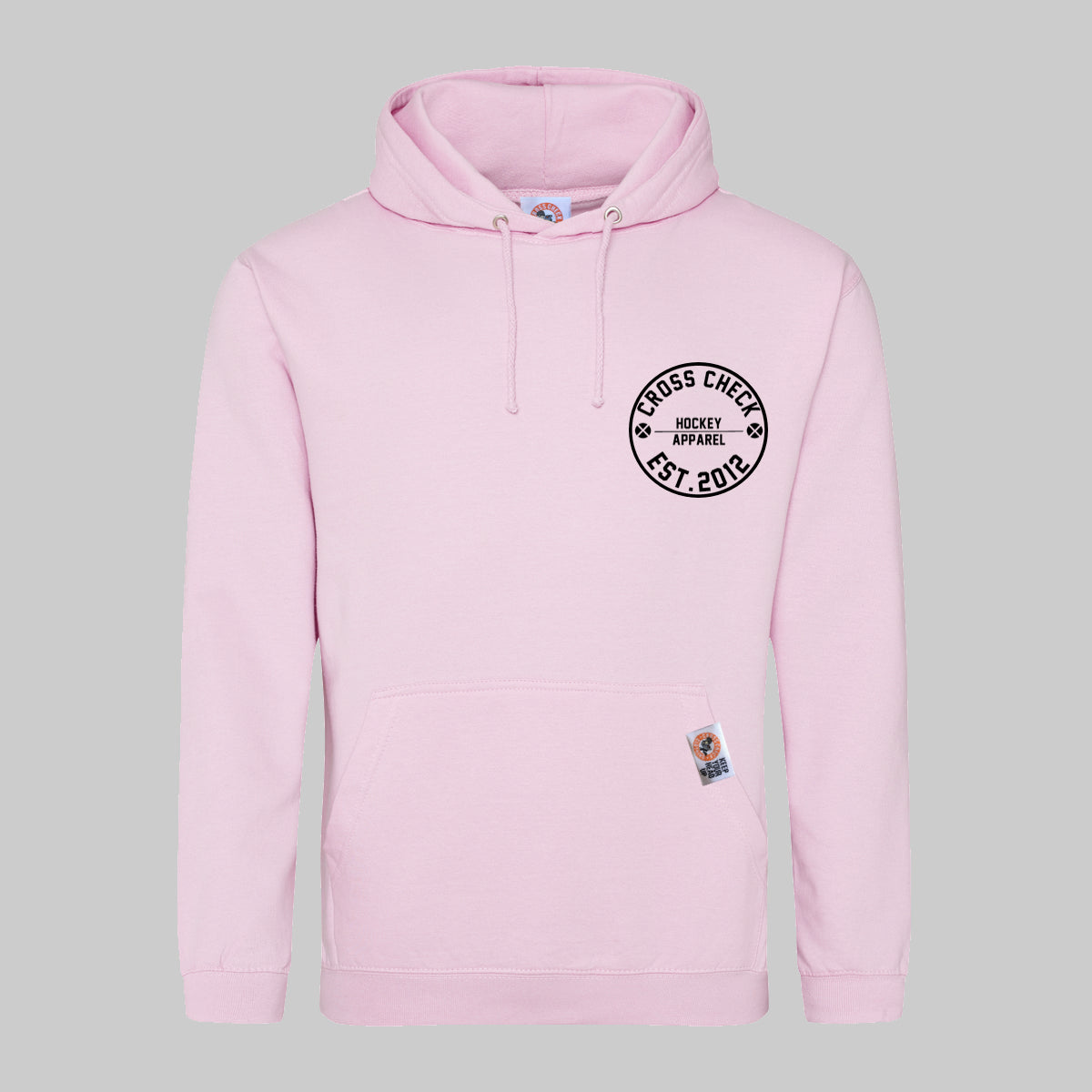 Centre Ice Hoodie Pink - Cross Check Clothing
