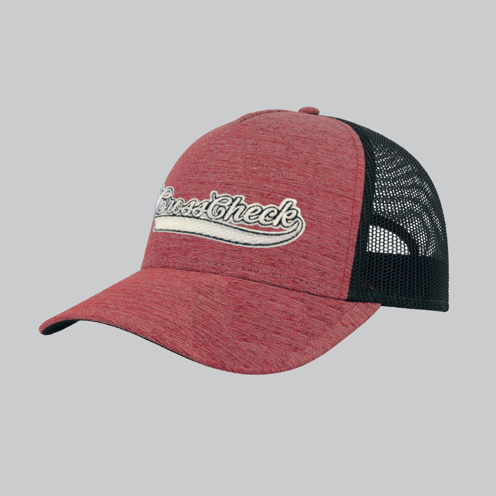 Cross Check Baseball Trucker Red - Cross Check Clothing
