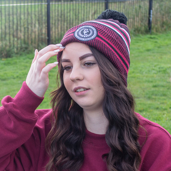 College Knit Hat Red