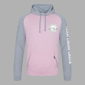 Stadium Series Hoodie - Pink & Grey - Cross Check Clothing