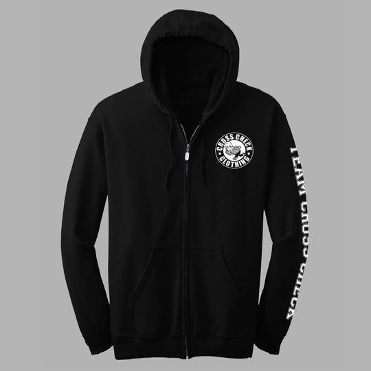 Black Zip-Up Hoodie
