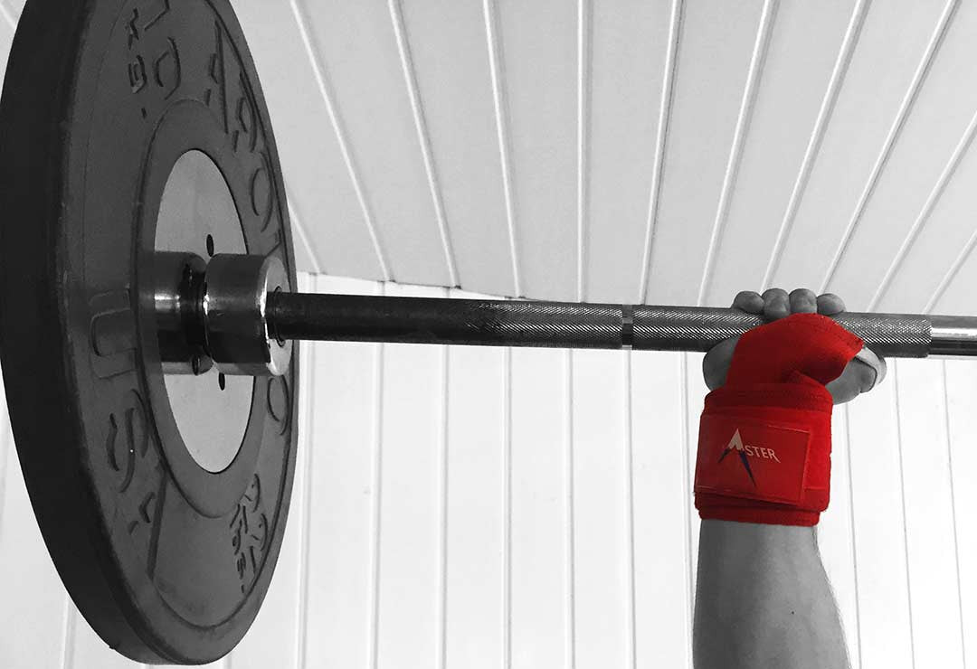 Aster Wrist Wraps Zoomed Overhead Press