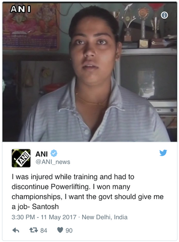 Santosh Powerlifter Quit Sell Tea