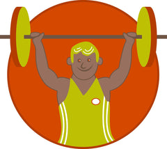 Man Cartoon Overhead Press Military Press