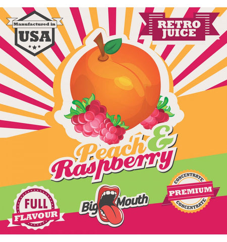 Big Mouth Essens - Retro Juice - Peach & Raspberry - Nordic E cigg