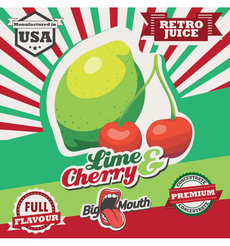 Big Mouth Essens - Retro Juice - Lime & Cherry - Nordic E cigg