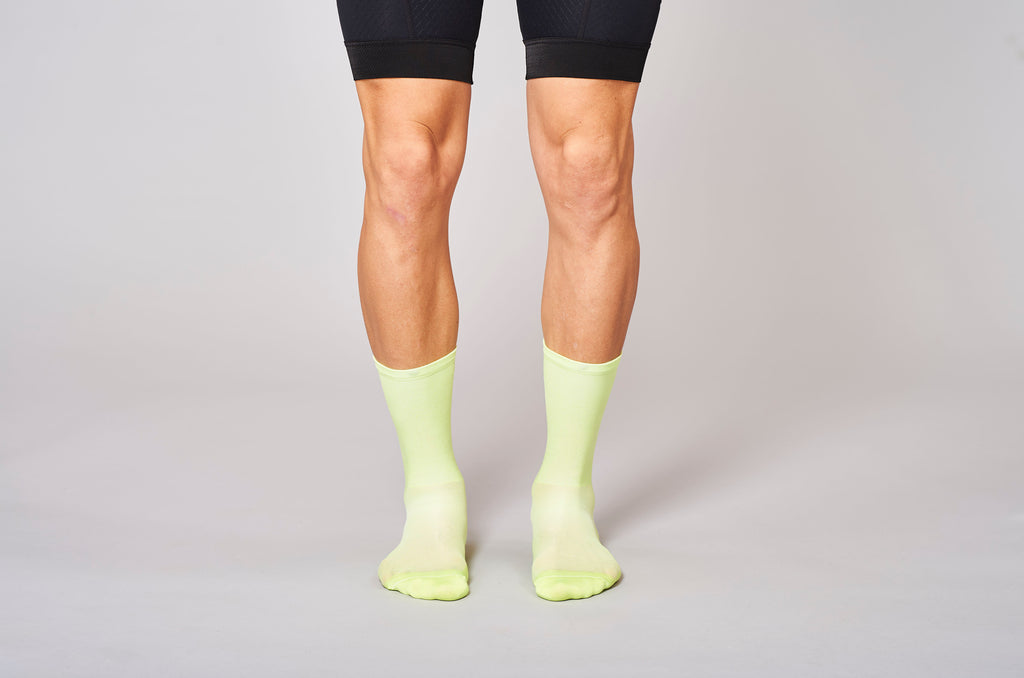classic acid neon fingerscrossed socks cyclingsocks