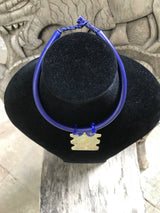 Leather choker millefiori