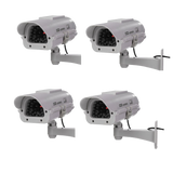 Masione 4 Pack Outdoor - Indoor Solar Powered CCTV Dummy