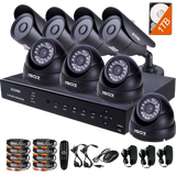ZOSI 8CH 900TVL HD Security Camera System Remote Access