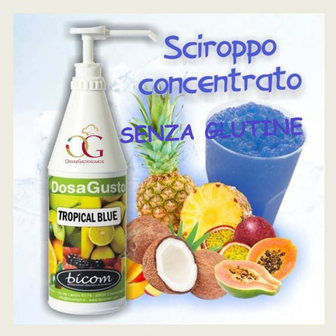 Sciroppo per Granita Tropical Blue - officinegastronomiche