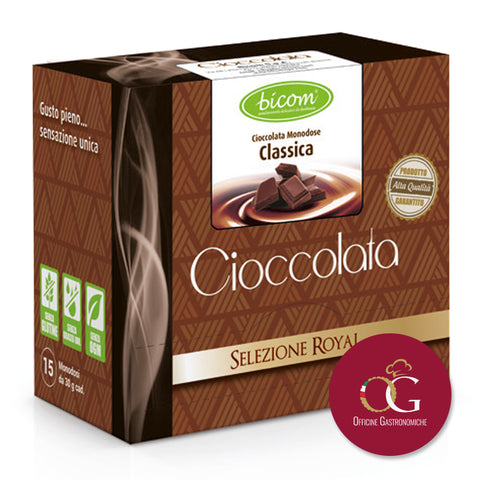 La Cioccolata Calda Monodose Royal in BOX da 15 bustine da 30 gr