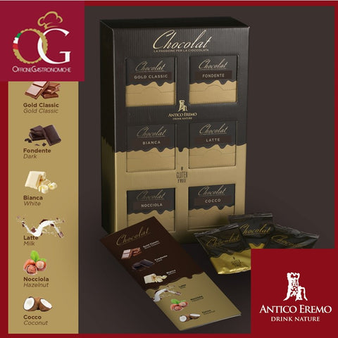 Kit Espositore Chocolat Classico | 60 Bustine + 6 Menù +1 Cartello da Banco - officinegastronomiche