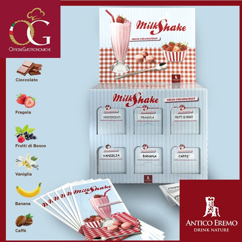 Kit Espositore Milk Shake | Box da 6 Gusti Misti + 6 Menù - officinegastronomiche