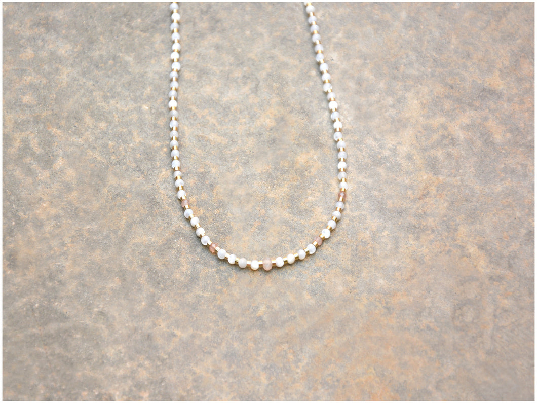 PINK SUNSTONE Necklace