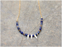 BLUE SPIKES Necklace
