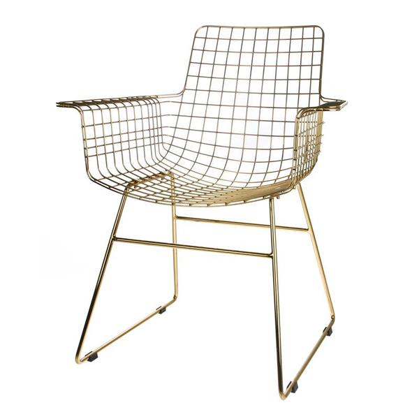 BRASS WIRE ARMCHAIR BY HK LIVING