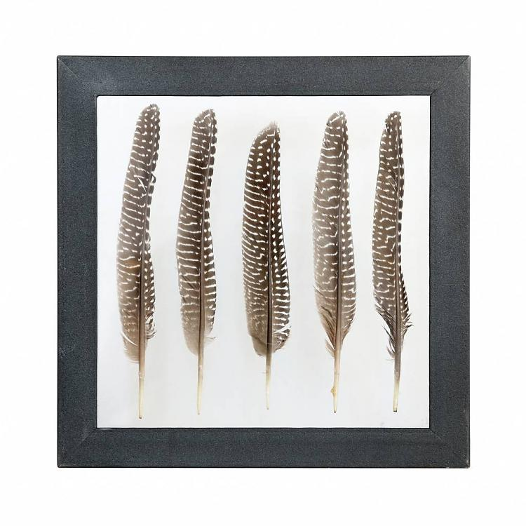 BROWN PHEASANT FEATHER FRAME BY HK LIVING