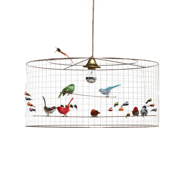 MEDIUM BIRD CAGE SUSPENSION LAMP BY MATHIEU CHALLIERES
