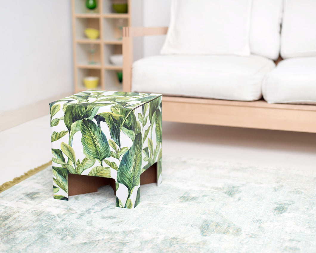 GREEN LEAVES DESIGN STOOL BY DUTCH DESIGN BRAND