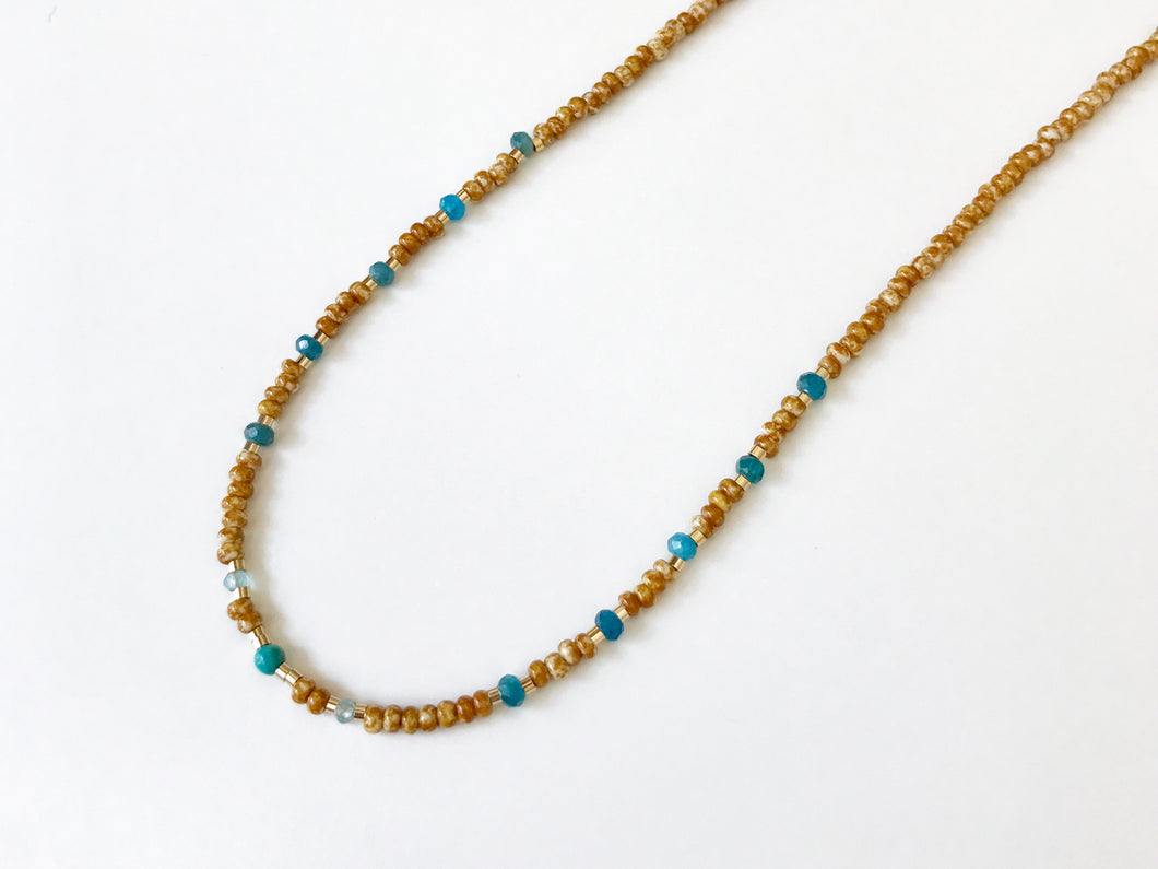 SAFRAN AND TURQUOISE Necklace