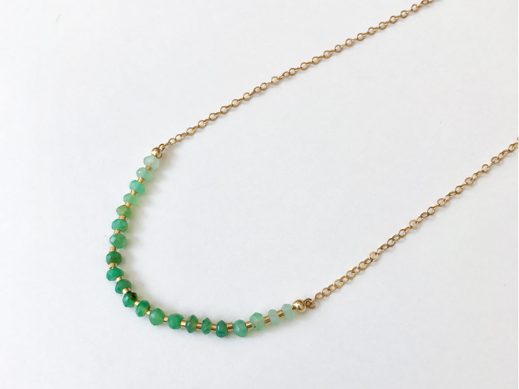GREEN RANK Necklace