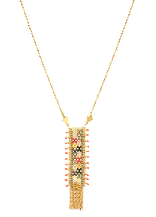 KUZCO Coral Banner Necklace