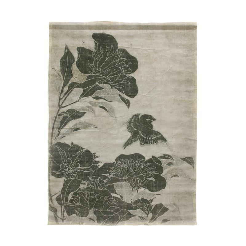 LINEN WALL CHART FLORAL BY HK LIVING