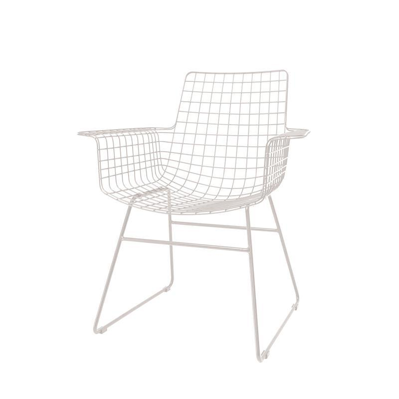 WHITE WIRE ARMCHAIR BY HK LIVING