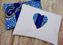Large Navy Blue and Blue African Clutch