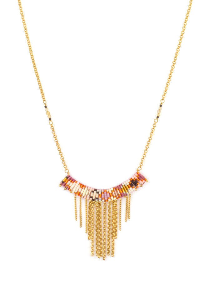 SOFIA Pink Arch Pendant Necklace
