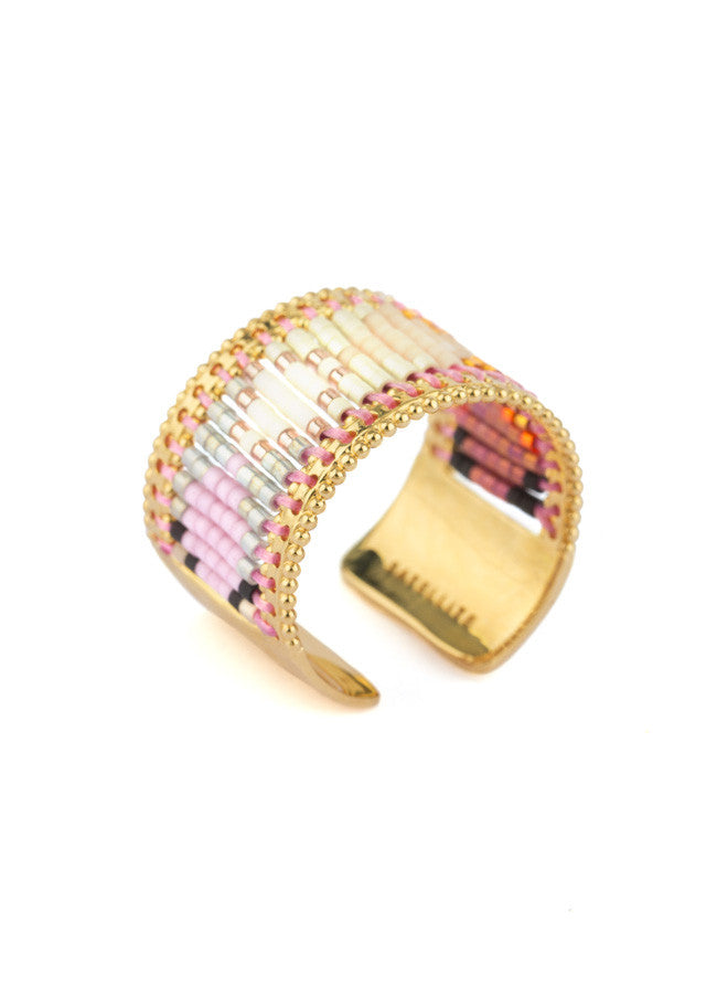 SOFIA Pink Woven Ring