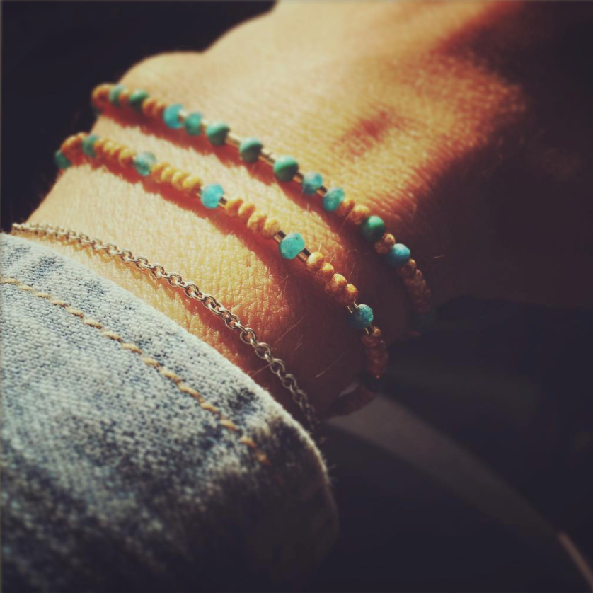 SAFRAN AND TURQUOISE Bracelet