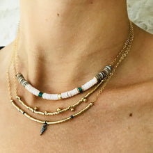 WHITE SURFER NECKLACE