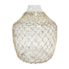 WICKER GLASS VASE BY HK LIVING