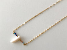 White Nacre HORN Pendant Necklace