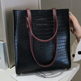 Fashion Crocodile Pattern Women Handbag - The Accessorie Hub