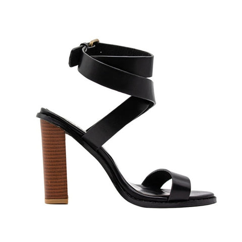 Women Retro Buckle Strap Sandal - The Accessorie Hub
