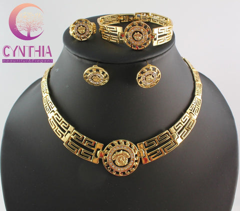 Fashion  Jewerly Sets For Women Gold Plated Necklace Set - The Accessorie Hub