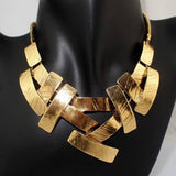 Bib Choker Necklace Women Cross Metal Pendant Snake Chain - The Accessorie Hub