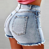 Shorts  Jean Denim Short Straight Women High Waist