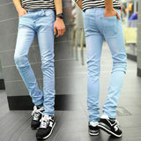 Light blue 2016 New arrived Denim Skinny Jeans men hight quality - The Accessorie Hub