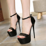 High heel sandals gladiator  ankle strap - The Accessorie Hub