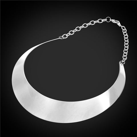 Choker Statement Necklace Trendy Jewelry Stainless Steel/Gold Plated - The Accessorie Hub