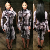 New arrive high fashion bandage dress full sleeve - The Accessorie Hub